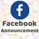Facebook Announcement PHP Script with Admin Panel