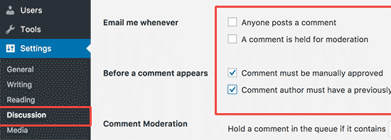 Comment Setting
