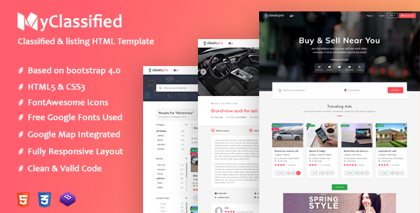 Bets Classified Ads Website Templates